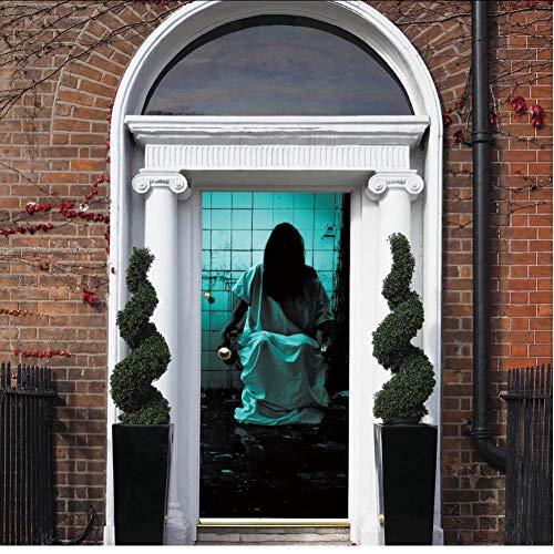 Wangbw Ghosts Waschraum Horror Aufkleber Scary Halloween Aufkleber Bar Wohnheim Schlafzimmer Fenster Tür Dekoration