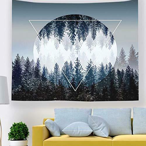 3D-Tapete, Motiv: schwarzer Mond, zum Aufhängen von Stoffen, Wandbild.