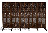 Aarsun Capria Partition Screen/Room Divider (Mango Wood) (5 Panel, Brown)