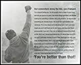 Rocky Balboa Motivational Quotes Poster Print (12 x 18 inch, Rolled)