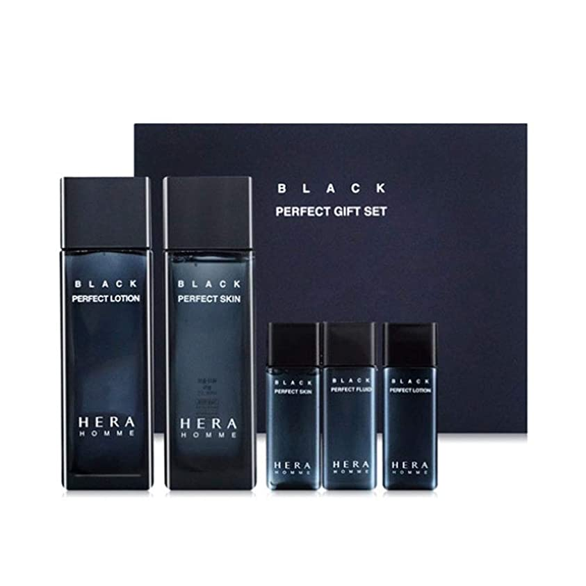 いうイディオムトチの実の木ヘラオムブラックパーフェクトスキンローションセットメンズコスメ韓国コスメ、Hera Homme Black Perfect Skin Lotion Set Men's Cosmetics Korean Cosmetics [並行輸入品]