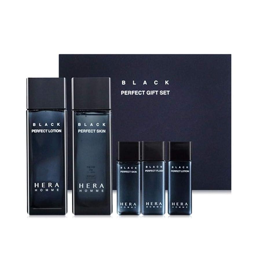 漂流その後ちらつきヘラオムブラックパーフェクトスキンローションセットメンズコスメ韓国コスメ、Hera Homme Black Perfect Skin Lotion Set Men's Cosmetics Korean Cosmetics [並行輸入品]