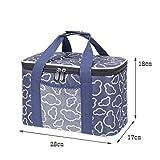 Lunch Bags Bolso del Almuerzo for Hombres y Mujeres de Picnic Grande Cooler Bag Correa de Hombro Ajustable con Aislamiento del Bolso del Almuerzo de Oficina/Escuela/Picnic (Color : Blue, Size : L)