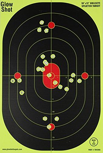 12x18-Inch Bullseye Glowshot Splatter Targets, 50 Packs