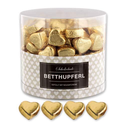 150 goldene Schokolade Herzen Prag