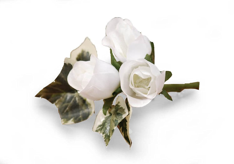 Darice VL3078, Mini Rosebud Boutiner Vendor Delay, 4-Inch, White