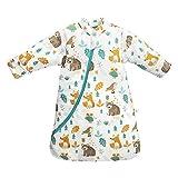 Saco de Dormir para bebé de Invierno para niños, 3,5 TOG, de algodón orgánico, Diferentes tamaños, Desde el Nacimiento hasta los 4 años de Edad