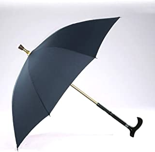 AINIYF Crutches Umbrella Long Handle Separable Multi-Functional Reinforcement Non-Slip Mountaineering Elderly Umbrella (Color : Black)