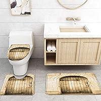 ZGDPBYF 浴室用アップホームバスマット木製ドアハウスアートプリントバスマットシャワーフロア用カーペットバスタブマット