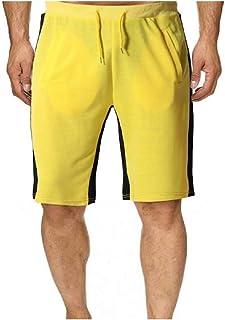 RkBaoye Men Stitch Casual Movement Drawstring Waist Regular-Fit Short Pant