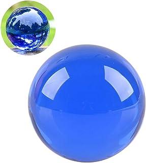 クリスタル クリア ボール 水晶球 水晶玉 多色透明 クリスタルボール レンズボール 装飾品(40mm,ブルー)