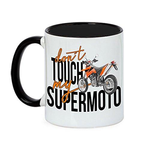 Siviwonder Tasse Dont Touch My Supermoto SM Bike Motorrad Fun Kaffeebecher