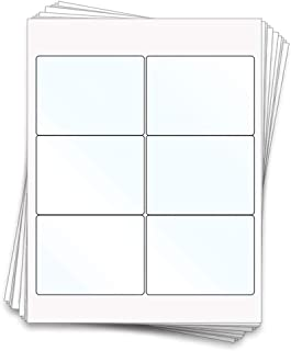 60 Printable Clear Gloss Beer Bottle Sheet Labels, 4x3 inches, Clear Gloss Inkjet Homebrew