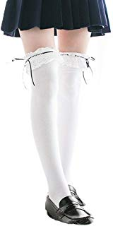 Anime Stockings Japanese Cosplay School Lace Top Thigh High Lolita Cotton Over Knee Socks