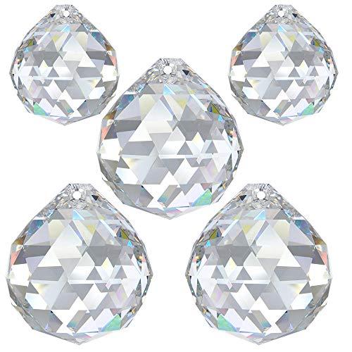 Regenbogenkristall 5 tlg. Kugelset 20mm & 30mm Crystal 30% PbO ~ Feng Shui Suncatcher