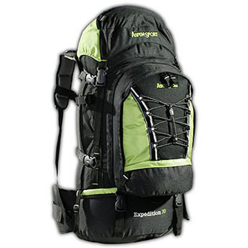 AspenSport Rucksack Expedition, schwarz/Grün, 50 x 38 x 23 cm