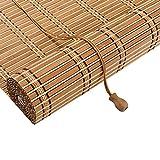 WXQIANG Cortina enrollable de bambú, de excelente calidad, personalizable, aislamiento térmico, persianas venecianas, patio, galería, balcón, decoración de interiores para el hogar