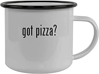 got pizza? - Stainless Steel 12oz Camping Mug, Black