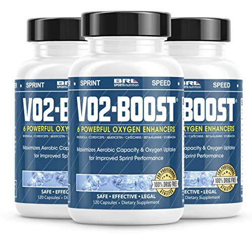 VO2 Boost. Natural Endurance and Oxygen Booster Performance Enhancer to Increase VO2 max w/Rhodiola Rosea, B12, and Alpha Lipoic Acid (120 Capsules) (90 Day Supply (Save 45))