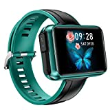 HQPCAHL 2 in 1 Smart Watch Mit TWS Wireless Bluetooth Headset, Smart Bracelet Mit 1,4'Touchscreen, Smartwatch Herzfrequenz Blutdruck Fitness Tracker Ohrhörer Combo Running Music Armband,Grün