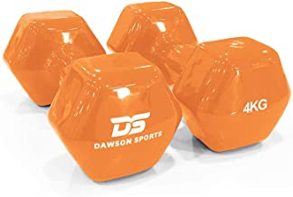 DAWSON SPORTS Unisex Adult 12250 Vinyl Dumbbell - 4kg (12250) - Orange, 4kg