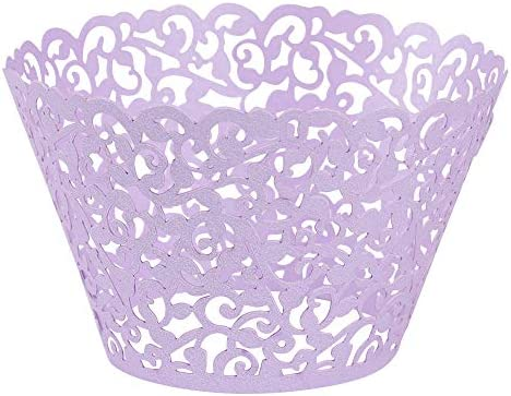 Lucky Monet 50 100Pcs Filigree Vine Cupcake Wrappers Baking Cake Cup Wraps Cupcake Liners Muffin product image