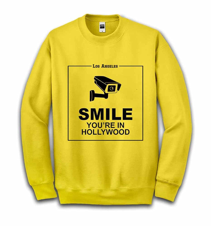 Fox Republic 監視カメラ 「ほら笑って、ハリウッドにいるんだから」 イエロー キッズ スウェット 110cm