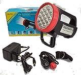 Linterna Recargable, a la red y al mechero. 36 LEDS. Hasta 30 horas de duración.