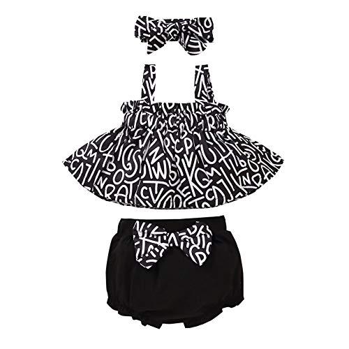 DaMohony Trajes de bebé para bebé, sin mangas, con correa para la cabeza, ropa en casa