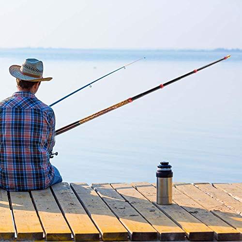 Redxiao 【 】 Caña de Pescar telescópica, caña de Mano, diseño ultracorto,...