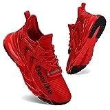 Zapatillas Deportivas de Mujer Zapatos Mujer Calzado Deportivo de Exterior de Mujer para Correr Zapatillas Casual Sneakers Rojo Negro-39