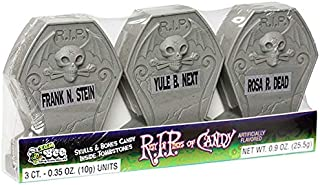 Halloween Rest in Pieces Tombstones w/Candy, 12-3 in a pack Display Box