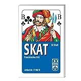 Ravensburger Spielkarten 27002 - Klassisches Skatspiel, Franzsisches Bild, 32 Karten in der Faltschachtel