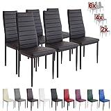 Albatros 2698 Milano Lot de 6 chaises, Noir