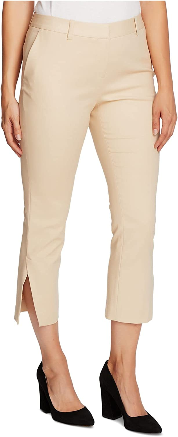Vince Camuto Womens Beige Cropped Wear to Work Pants Size 14
