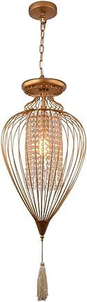 Pendente Bella Iluminação Indian Dourado/Transparente