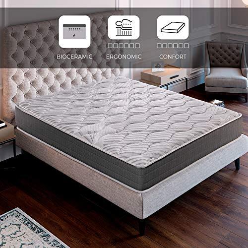 ROYAL SLEEP Colchón viscoelástico Carbono 135x190 firmeza Alta, Gama Alta, Efecto regenerador, Altura 23cm - Colchones Ceramic