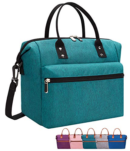 Leakproof Insulated Lunch Tote Bag with Adjustable & Removable Shoulder Strap, Durable Reus…