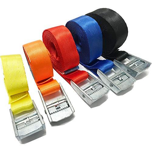 Silverline 217585 Cam Boucle Tie Down Strap S-crochet 2 m x 25 mm 4pk 2 m x 25 mm