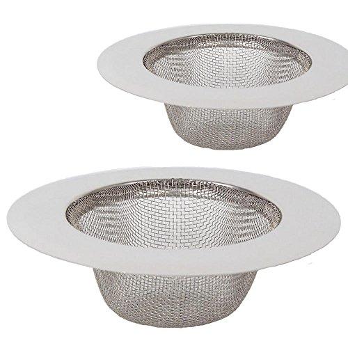 2 pièces en acier inoxydable tamis,Mini tamis d'évier,Filtre de filtre de drain d'évier d'acier inoxydable,Tamis filtrant,Filtre pour évier de douche, de bain ou de cuisine