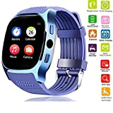 Bluetooth Smart Watch Screen Touch Smartwatch Wrist Band for Men Women Boys Girls Compatible with Android Samsung Huawei LG Motorola HTC with Heart Rate Monitor Blood Pressure Pedometer Sleep Monitor
