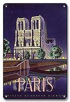 パリのノートルダム寺院 金属板ブリキ看板警告サイン注意サイン表示パネル情報サイン金属安全サイン