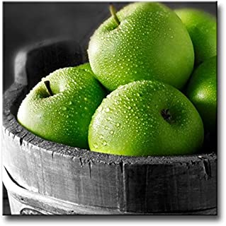 So Crazy Art Green Wall Art Painting Green Apples in The Basket Pictures Prints On Canvas Food The Picture Decor Oil for Home Modern Decoration Print