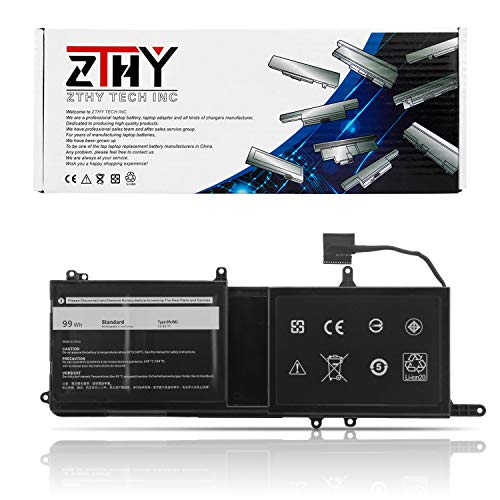 ZTHY 99WH 9NJM1 Laptop Battery for Dell Alienware 15 R3 R4 17 R4 R5 P31E001 P31E002 P69F001 P69F002 ALW17C-D1738 D1748 D1758 D1848 D2738 D2748 D2758 R1748 Notebook 0546FF 0HF250 44T2R HF250 MG2YH