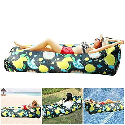 PARTAS Las tumbonas inflables del reposacabezas, el sofalangero Impermeable y con Fugas de Fugas, se Pueden Usar en Viajes a la Playa y picnics de Campamento en la Piscina del Patio Trasero.