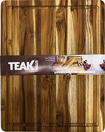Teakhaus 511 Holz Schneidebrett, 40x30x2cm, Antibakteriell FSC Zertifiziert Kuchenbrett Hohen Folgehalt