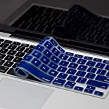 Kuzy - MacBook Keyboard Cover for Older Version MacBook Pro 13, 15, 17 inch and MacBook Air 13 inch, iMac Wireless Keyboard, Apple Computer Accessories Key Board Silicone Skin Protector - Navy Blue