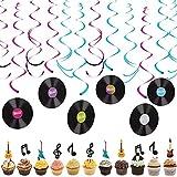 SZWL Musica Decoraciones Fiesta,Discos Colgando remolinos Gu