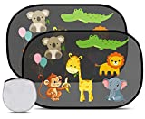 Migimi Tendine Parasole Auto Bambini, Autoadesivo Parasole Auto Finestrini Laterali, Universali Tende da Sole Protezione da Raggi UV per Neonati Bambini e Animali, 2 Pezzi (51 x 31 cm)