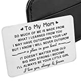 Daughter To Mom Wallet Insert Card Christmas Gifts For Mom Mothers Day Gifts Mum Valentine Birthday From daughter To Step mom To Be Wife Kids I Love You Mom Step Mother Figure Wedding Her Women